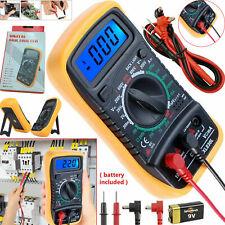 LCD Digital Multimeter Ammeter Voltmeter Ohmmeter AC DC OHM Tester Meter Buzzer