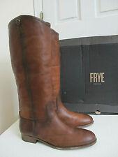 NIB $369 Women's Frye Melissa Button 2 Riding Boots Cognac sz 9.5 Brown