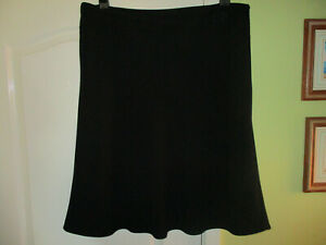 SIZE 22 WOMENS SMART FORMAL BLACK SKIRT FLARED LINED BY BONMARCHE