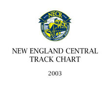 New England Central Railroad Track Chart 2003 Rail America NECR
