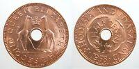 Rhodesia & Nyasaland 1/2 Penny 1958 Gem BU 66# World Money Coin