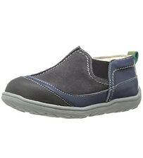 SEE KAI RUN Irwin Gray Canvas Loafers Sneakers Toddler Boy Sz 8 M (B,M) $60 NWB