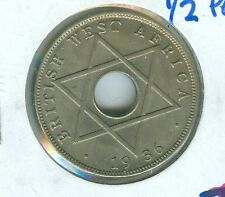 BRITISH WEST AFRICA 1936 1/2 PENNY--UNCIRCULATED