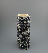 Vintage Swirled Handmade Art Molten Plastic Flower Vase 1970s