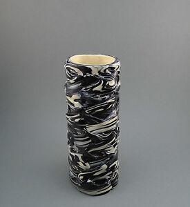 Vintage old Swirled Handmade Art Molten Plastic Flower Vase 1970's