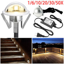 1-50pcs 35mm LED Yard Stair Step Deck Lights Outdoor Wall Garden Recessed Lamp