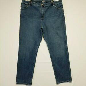 Lee Classic Fit 20W Straight Leg High Rise Blue Wash Women's Jeans