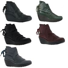 Wedge Lace Up Fly London Ankle Women's Boots