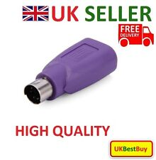 New USB PS/2 Male to USB Female Converter Adaptor For Mouse & Keyboard PS2 - UK