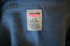 Dickies Genuine Men's Dark Blue Front Pocket Cotton Blend Zip Hoodie Size L