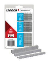 New listing Arro Fastener Assortedin L x 3/8in Galvanized Steel Flat Cron Heavy Duty Staple