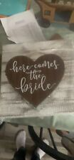Flower Girl Basket with Here Comes The Bride - Wood & Metal