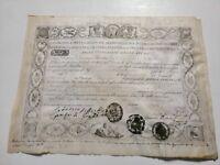 NAPOLI FERDINANDO I DIPLOMA DI LAUREA FARMACIA 25 06 1819 autografo Principe