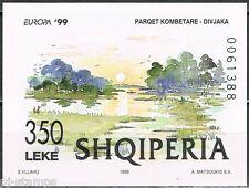 1999 Albanië blok 118 Europa CEPT Nationale parken