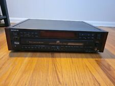 Sony CDP-C79ES 5 Disc CD Changer, Player -- Wood Side Panels