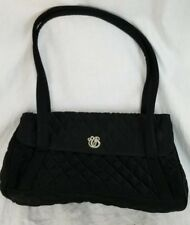 Vera Bradley Black Quilted Handbag Purse Silver Metal Signature Stylish Classic