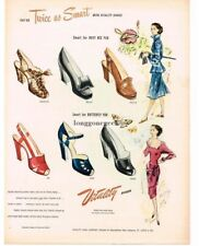 1947 VITALITY Women's Shoes art by L. & S. McCULLOUGH Vintage Print Ad