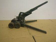 BRITAINS FIELD GUN LONG TOM MILITARY GREEN PAT. 617492  VINTAGE ARMY METAL TOY