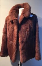 """VINTAGE REAL COONEY FUR CLASSIC SHORT JACKET TO FIT 38"""" BUST"""