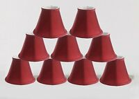 "Urbanest Empire Chandelier Lamp Shade,Bell,3""x 6""x 5"" Silk Burgundy, set of 9"