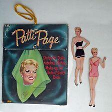 VINTAGE PATTI PAGE PAPER DOLLS 1958 MAKE-UP KIT NOTE & SKETCH BOOK Lowe #5801