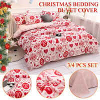 Christmas Xmas Bedding Set Duvet Quilt Cover & Pillowcase Single Doub