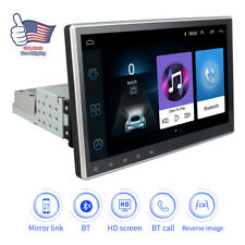 10.1'' 1DIN Android 9.1 Car Quad-core Stereo Radio GPS MP5 Player Wifi Hotspot