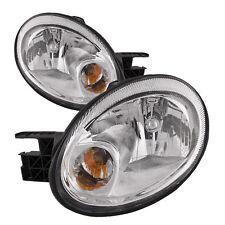 Fits For 2003 2004 2005 Dodge Neon Headlight Right & Left W/Chrome Trim (Fits: Dodge Neon)