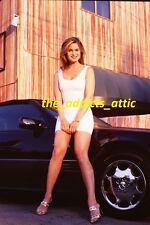 Photo 35mm Slide/Sexy Skinny Woman Sitting On Mercedes Benz Car/nice legs JG246