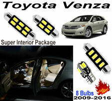8pcs LED Interior Dome Light Kit Xenon White For Toyota Venza 2009-2016 Lamps