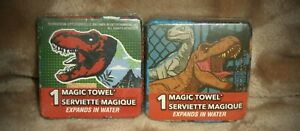 (2) Disney Magic Towels Jurassic Park Dinosaur 11.5 in x 11.5 in Wash Cloth