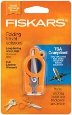 Fiskars Folding Travel Scissors TSA Compliant Stainless Steel