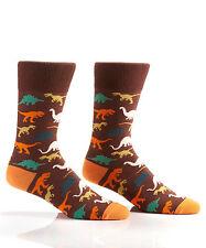 Fun & Fashionable Yo Sox Men's Crew Socks-Dinosaur-T-Rex