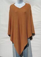"100% Cashmere Knit Poncho ""V-Neck"" Himalayan Yarn HandLoomed 1 Size Copper"