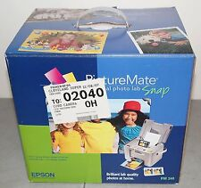 New!! EPSON Picture Mate Personal Photo Lab Snap Color PORTABLE PRINTER #PM-240