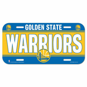 Golden State Warriors License Logo Plate Car Sign 11 13/16in NBA Basketball