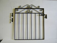 Strong wrought iron garden gate / side gate 3ft high for 36 ins