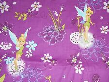 Tinker Bell on Cotton  Material by the Yard