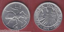S65, SAN MARINO 1 LIRA FORMICA 1974 DA SERIE DIVISIONALE  KM 30,   FDC / UNC