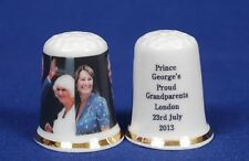 Prince George's Proud Grandparents July 2013 China Thimble B/118