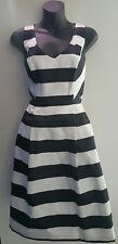 Basque Dress Size 12 Stripe Pleated Cocktail Event Myer DESIGNER