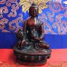 MEDICINE BUDDHA Tibetan Statue from Nepal Resin 4.5 Inch LIMITED EDITION!