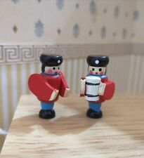 1/12th Scale Dolls House 'Toy' Wooden Soldiers. Pair.