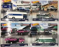 Hot Wheels Car Culture Team Transport Set Of 4 (Dodge Corvette Volkswagen Mazda)
