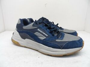 Skechers Men's Goodyear Soles Lace Up Athletic Shoe Navy/Gray 12M