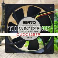 1pc SERVO CUDC12B7R cooling fan 2pin 12V 0.28A 3.4W 120*120*25mm#XX