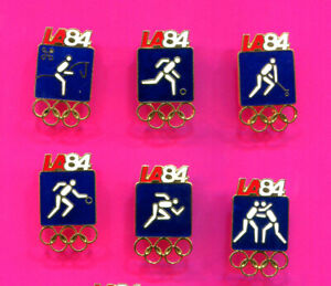 1984 OLYMPIC PIN LARGE BLUE PICTOGRAM SPORTS PINS LOT #1 PICK A PIN 1-2-ALL