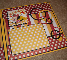 "Disney Minnie Mouse ~ Two-Page Premade Scrapbook Pages ~ ""Just Minnie & Me"""