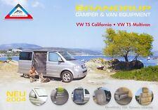 Brandrup VW T5 California Multivan Prospekt 8 03 Autopropekt 2003 Broschüre PKWs