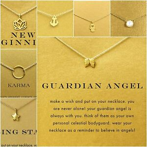 Inspirational Message Gold Silver Necklace Pendant Gift Cute Card Small